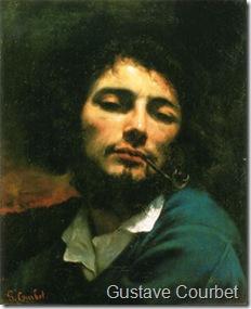 Gustave Courbet autoportrait homme pipe
